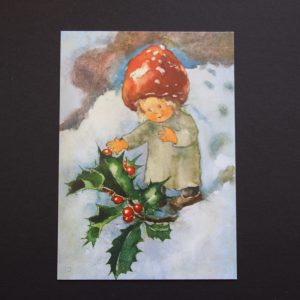 Postkarte Rote Beeren im Winter
