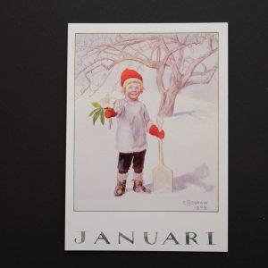 Postkarte Januar