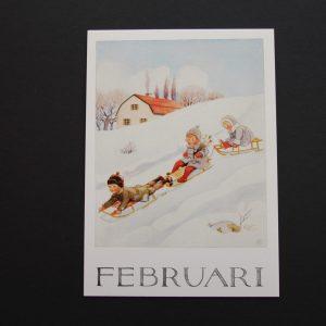 Postkarte Februar