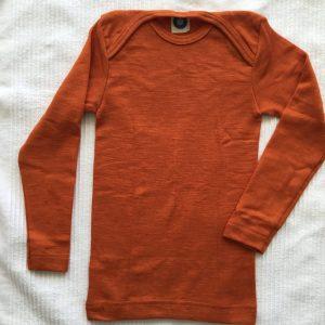 Wolle-Seide Schlupfhemd langärmlig