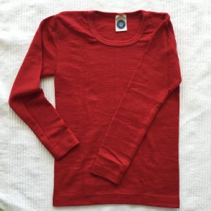 Wolle-Seide Langarmhemd