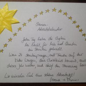Bastelset Sternen-Adventskalender