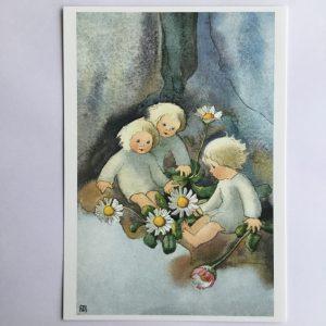 Postkarte Gänseblümchen