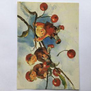 Postkarte Kirschenkinder