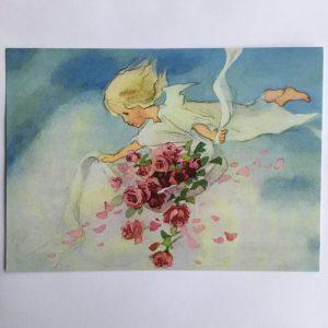 Postkarte Rosenengel
