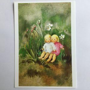 Postkarte Schwesterlein
