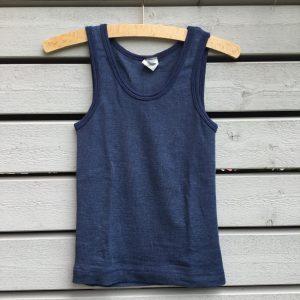 Wolle-Seide Unterhemd ohne Arm
